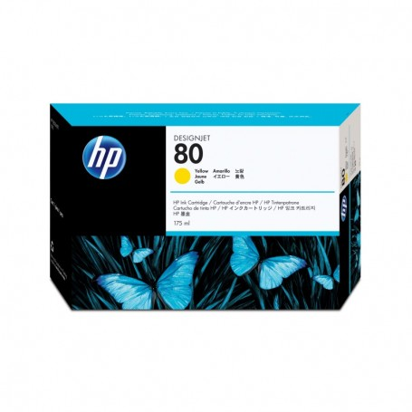 HP 80 - Cartouche d'impression jaune 175ml (C4873A)