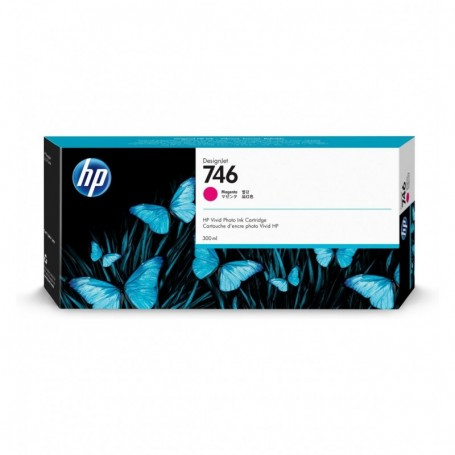 HP 746 - Cartouche d'impression magenta 300ml (P2V78A)