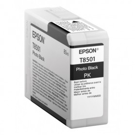 Epson T8501 - Réservoir noir photo 80ml
