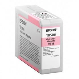 Epson T8506 - Réservoir magenta clair 80ml