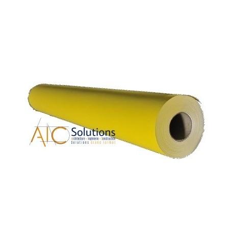 """Papier Couché Jaune pantone 106 double face 120gr/m² 0,610 (24"""") x 45m"""