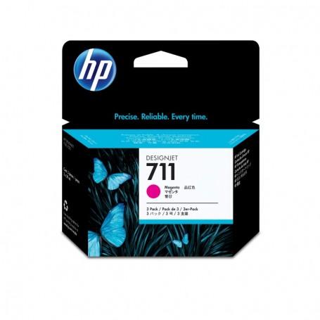 HP 711 - Pack de 3 cartouches d'impression magenta 29ml (CZ135A)