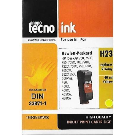 Inapa Tecno HP 44 - Cartouche d'impression jaune 42ml (51644YE)