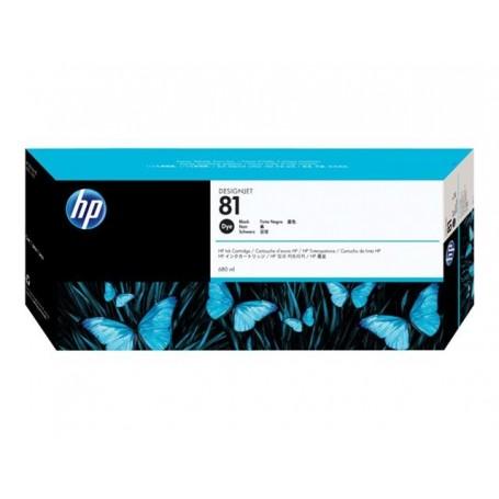 HP 81 - Cartouche d'impression noir 680ml (C4930A)