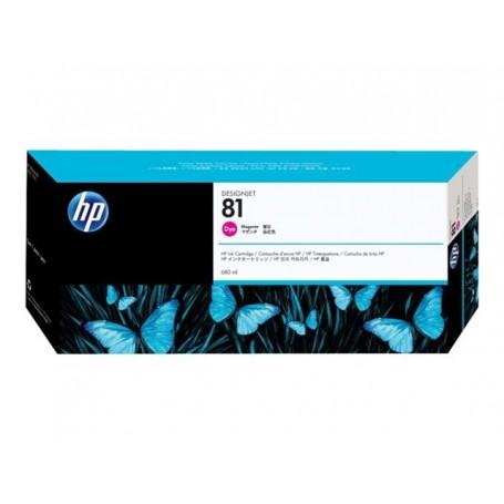 HP 81 - Cartouche d'impression magenta 680ml (C4932A)