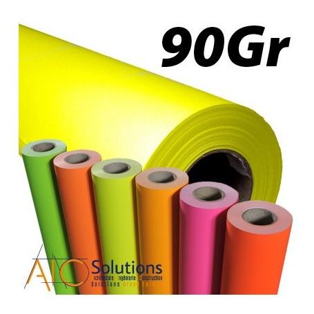 Papier PPC jaune fluo 90gr 0,594 (A1) x 135m