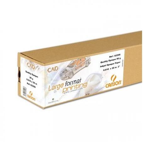 """Canson CAD papier traceur Standard Plus 90gr 0,610 (24"""") x 50m"""
