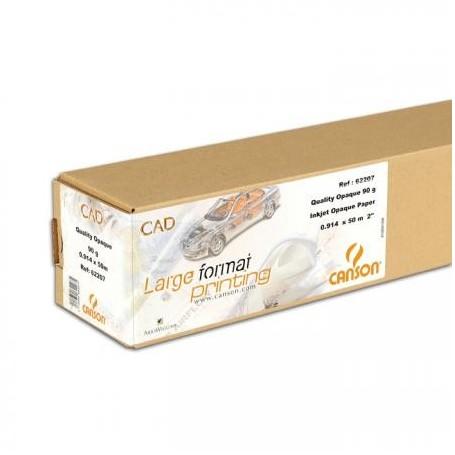 """Canson CAD papier traceur Surfacé Eco HiColor 90gr 0,914 (36"""") x 90m"""