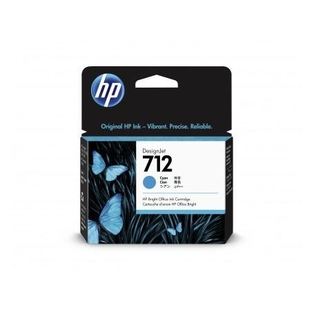 HP 712 - Cartouche d'impression cyan 29ml (3ED67A)