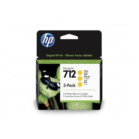 HP 712 - Pack de 3 cartouches d'impression jaune 29ml (3ED79A)