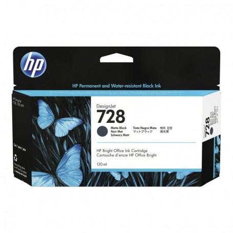 HP 728 Cartouche d'impression noir mat 130ml (3WX25A)