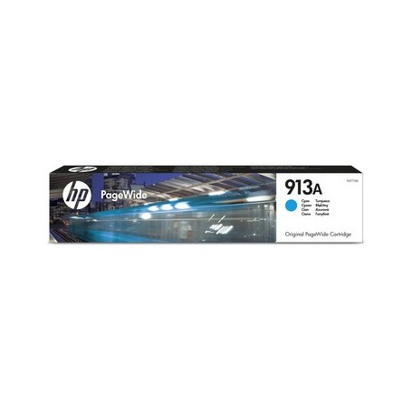 HP 913A - F6T77AE - cartouche d'impression PageWide cyan (3000 pages)