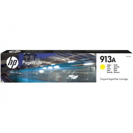 HP 913A - F6T79AE - cartouche d'impression PageWide jaune (3000 pages)
