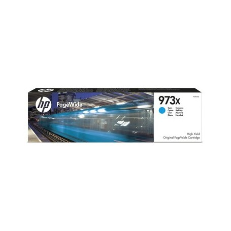 HP 973X - F6T81AE - cartouche d'impression PageWide cyan (7000 pages)