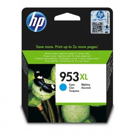 HP 953XL - F6U16AE - cartouche d'impression cyan (Jusqu'à 1600 pages)