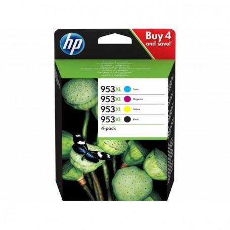 HP 953XL - 3HZ52AE - pack de 4 cartouches d'impression (cyan, magenta, jaune, noir)