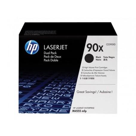 HP 90X - CE390XD - Pack de 2 cartouches de toner noir (Jusqu'à 2x24000 pages)