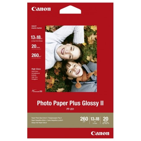Canon PP-201 - Papier photo brillant 260g/m² - 13x18 - 20 feuilles