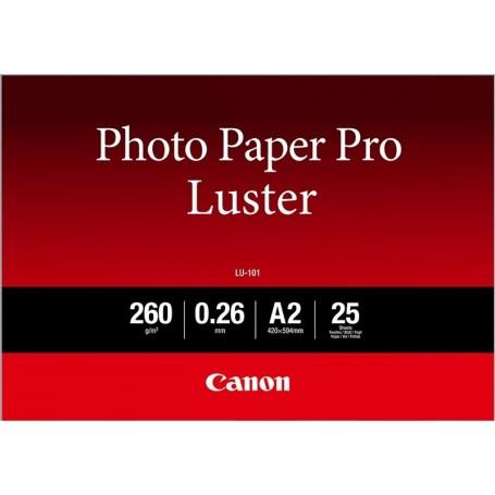 Canon 6211B - Papier photo Pro Luster 260gr A2 (0,420 x 0,594m) 25 feuilles (LU-101)