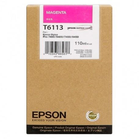 Epson T6113 - Réservoir magenta 110ml