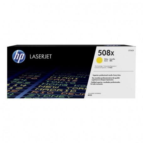 HP 508X - CF362X - cartouche de toner jaune (Jusqu'à 9500 pages)