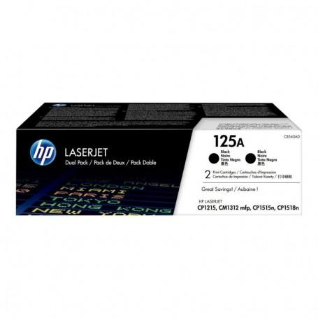 HP 125A - CB540AD - Pack de 2 cartouches de toner noir (Jusqu'à 2x2200 pages)