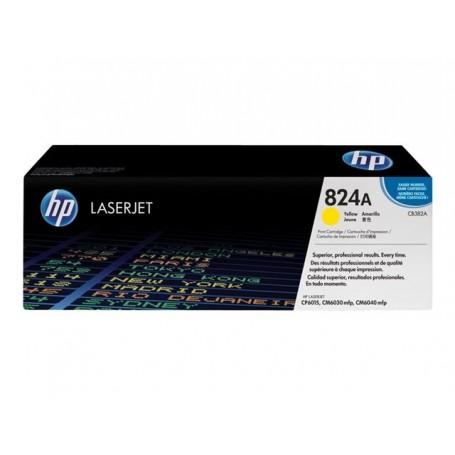 HP 824A - CB382A - cartouche de toner jaune (Jusqu'à 21000 pages)
