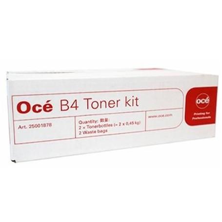 Océ B4 - Carton de 2 toners noirs de 400g et bac de récupération (25001878)