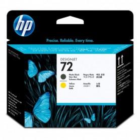 HP 72 - Tête d'impression jaune et noir mat (C9384A)