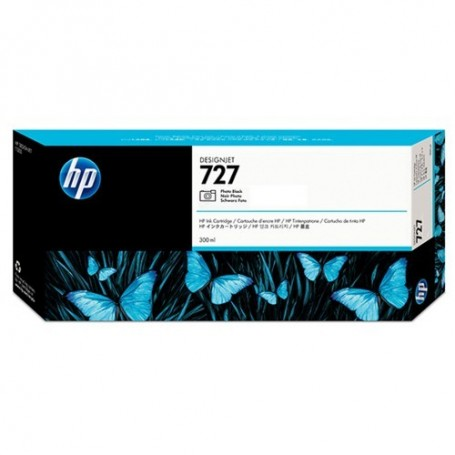HP 727 - Cartouche d'impression noir photo 300ml (F9J79A)