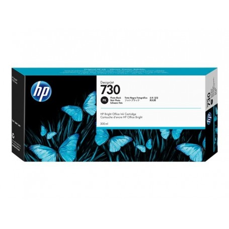 HP 730 - Cartouche d'impression noir photo 300ml (P2V73A)