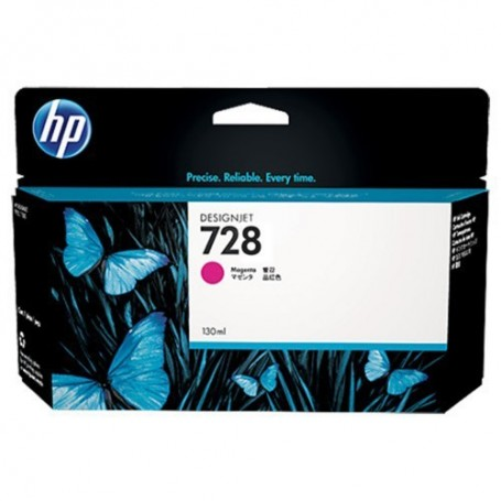 HP 728 - Cartouche d'impression magenta 130ml (F9J66A)