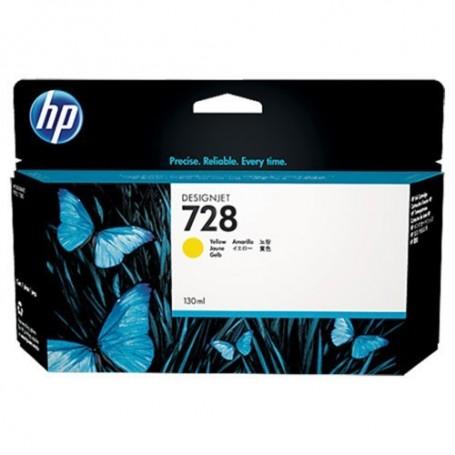 HP 728 - Cartouche d'impression jaune 130ml (F9J65A)