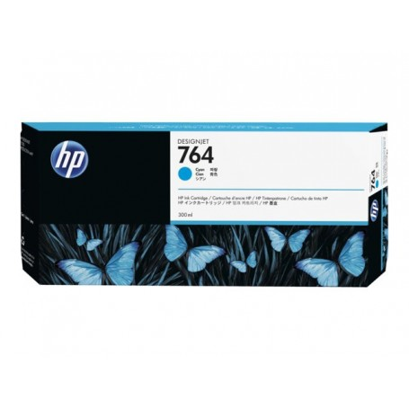 HP 764 - Cartouche d'impression cyan 300ml (C1Q13A)