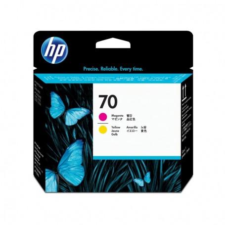 HP 70 - Tête d'impression jaune et magenta (C9406A)