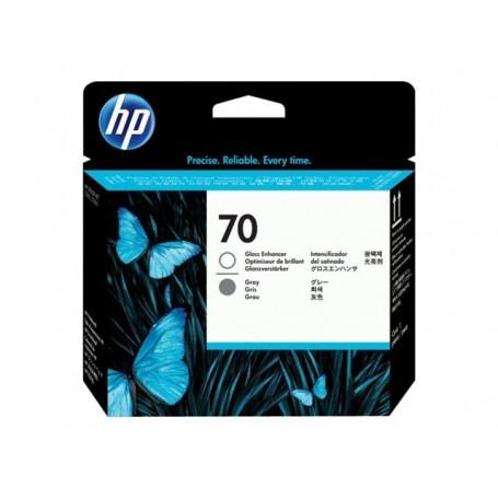 HP 70 - Tête d'impression gris et activateur de brillance (C9410A)