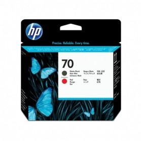 HP 70 - Tête d'impression noir mat et rouge (C9409A)