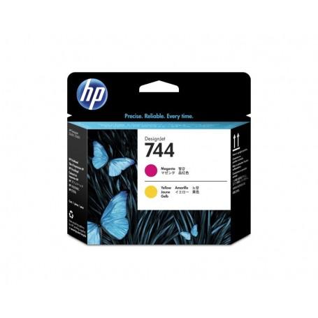 HP 744 - Tête d'impression magenta et jaune (F9J87A)