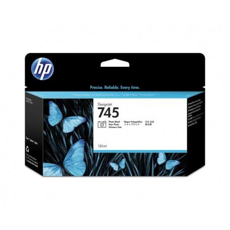 HP 745 - Cartouche d'impression noir photo 130ml (F9J98A)