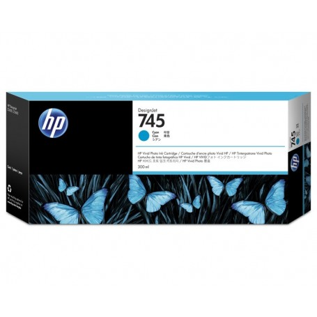 HP 745 - Cartouche d'impression cyan 300ml (F9K03A)